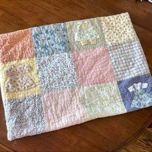Vintage Quilted Pillow Sham Case